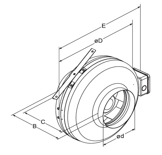 vka duct fan hts Air Conditioning Duct Supplies duct fan used for supplying or extracting air in ventilation and air conditioning systems mounted on round ducts it can be installed in all directions