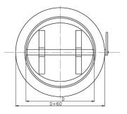 Przepustnica jednopłaszczyznowa typu B PVC
