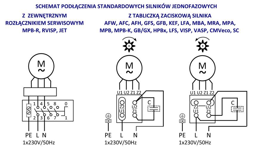 schemat podłączenia elektrycznego