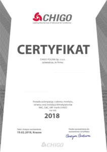 Certyfikat Chigo HTS